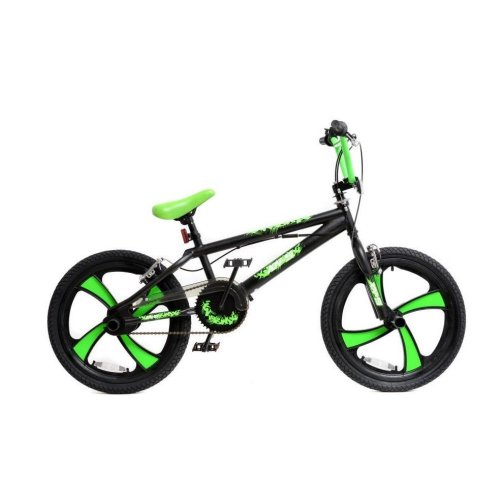 "(Black / Green) XN BMX Freestyle 20"" MAG Wheel Kids Bike 4 Colours"