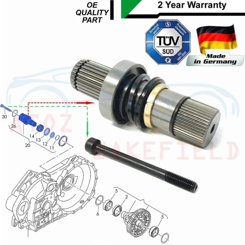 FOR TRANSPORTER T5 2.5 DRIVESHAFT CONNECTING SHAFT ADAPTOR STUB AXLE JOINT RIGHT