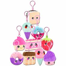 SQUEEZAMALS DESSERTS SERIES CLIP ON PLUSH (ONE SUPPLIED)