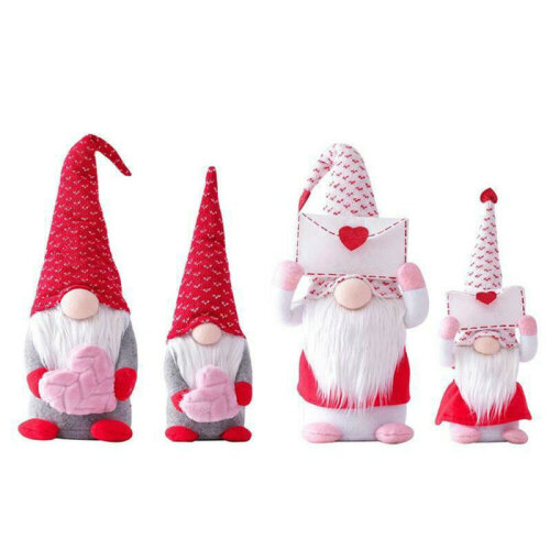 Valentine's Day Tomte Gnome Decorations Swedish Gnome Plush Dolls Handmade Gifts