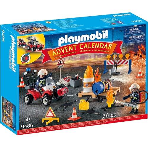 Playmobil 9486 Advent Calendar - Construction Site Fire Rescue