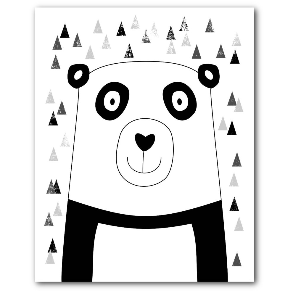 Scandinavian Print 8 x 10 inches Bear Nursery Art Unframed Nursery Print