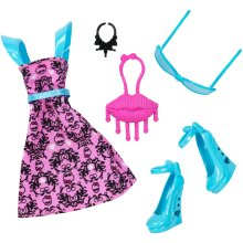 Monster High - DNX60 - Complete Look Draculaura - Deluxe Doll Costume Clothing Fashion Pack