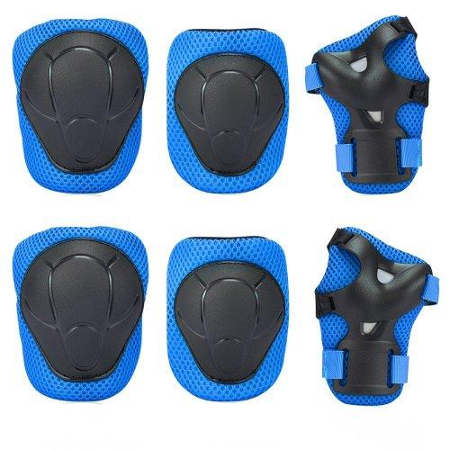 Knee Pad , GIM Kid's Protective Gear Set Knee Elbow Pads Wrist Support for Child Roller /Skating/ BMX /Bike /Skateboard (Blue)