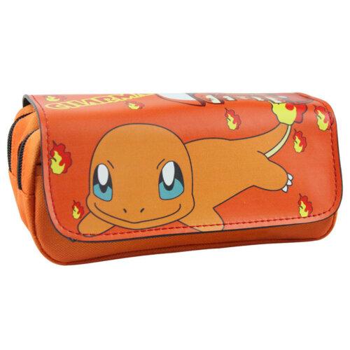 Pokemon Charmander Pencil Casel Pikachu Zipper Pencil Stationery Bag
