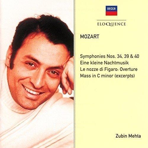 Mozart: Symphonies Nos. 34, 39, 40; Eine Kleine Nachtmusik [CD]