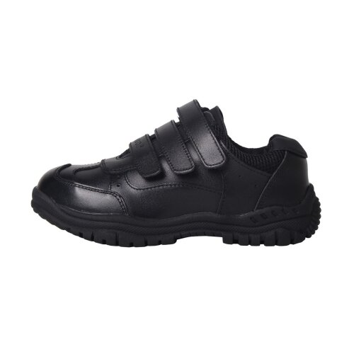 Kangol Kids Borden Hook and Loop Leather Shoes Casual Cushioned Junior Boys