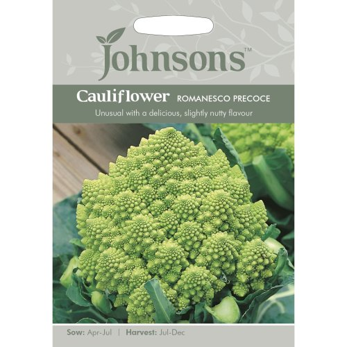 Johnsons Seeds - Pictorial Pack - Vegetable - Cauliflower Romanesco - 200 Seeds