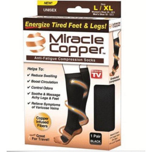 Anti-fatigue Miracle Copper Compression Travel Socks - XL