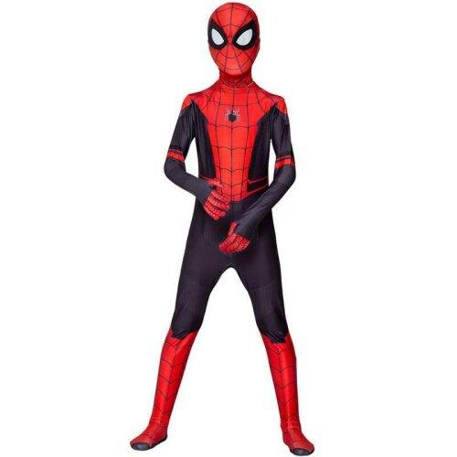 (Kids, 6-7 Years) Kid Adult Spider-Man Jumpsuit Spiderman Zentai Cosplay Costume