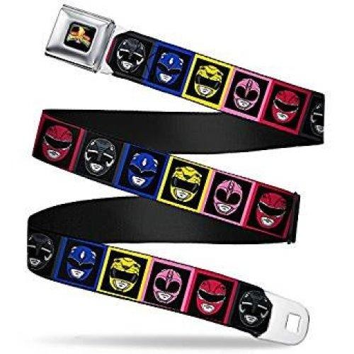 Seatbelt Belt - Power Rangers - V.16 Adj 24-38' Mesh New pra-wpr002