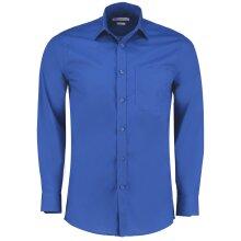 Kustom Kit Mens Poplin Long Sleeved Tailored Fit Workwear Office Work Shirt