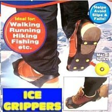 Ice Grippers - Excellent Traction On Ice & Snow - Boots Grips Cleats Shoes Slip -  ice snow grippers boots grips cleats shoes traction slip new