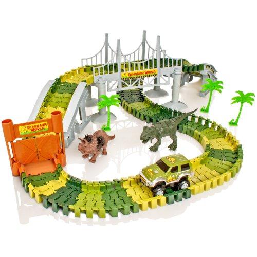 Create-A-Track Dino World Track Set | Flexible Dinosaur Race Track