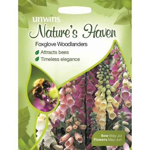 Unwins Pictorial Packet - Natures Heaven Foxglove Woodlanders - 500 Seeds