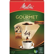 Melitta Gourmet Intense Coffee Filters Size 1x4, 80 Coffee Filters, For Filter Coffee Makers, Brown