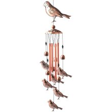 Birds Memorial Wind Chimes for Outside Garden Decor with Tubes Bells,Copper