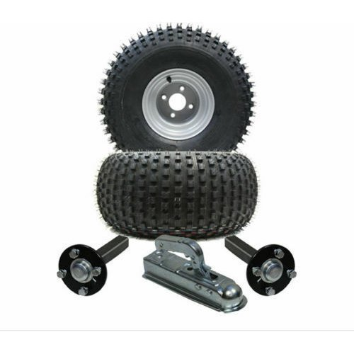 ATV trailer kit 22x11.00-8, knobby - wheels + hub / stub + hitch 310kg
