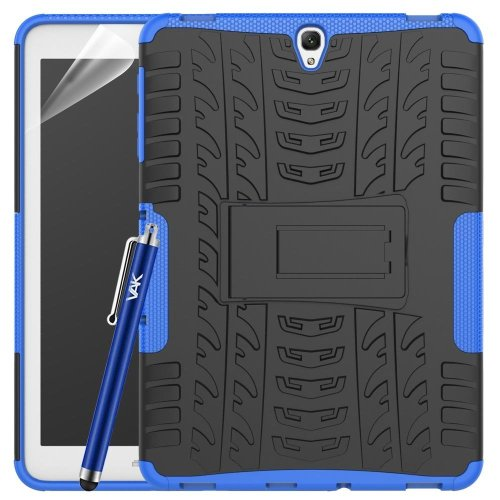(Blue) For Galaxy Tab S3 9.7 Armour ShockProof Case Cover