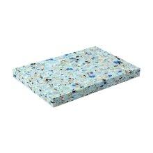 Fitness Mad Half Yoga Block 1 Inch Recycled Chip Foam Brick