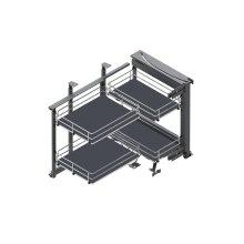 MAXIMA SILVA - base kitchen storage, graphite base