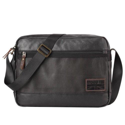 TRP0459 Troop London Classic Canvas Messenger Bag | Buy Bags Online | Canvas Messenger Bags | leather canvas backpack