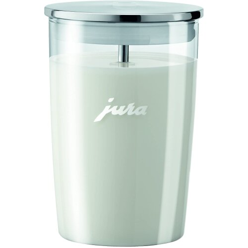 Jura Glass Milk Container Dishwasher-Safe 0.5 Liters Capacity New