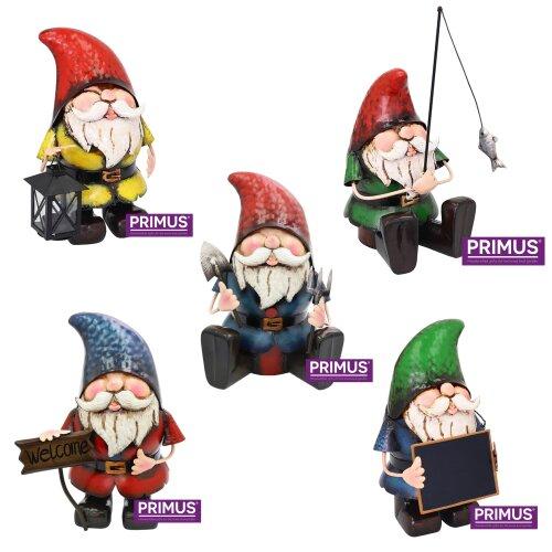 Primus Metal Garden Gnomes | Garden Ornaments