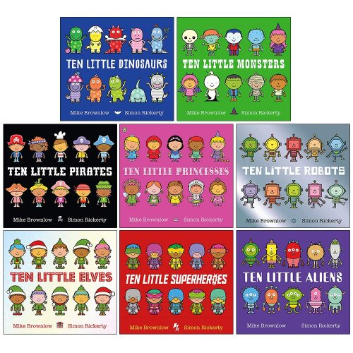 Ten Little Series Collection 8 Books Set by Mike Brownlow
