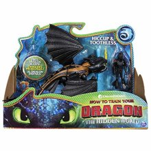 DreamWorks Dragons Toothless and Hiccup - Armored Viking Figure