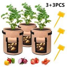 7 Gallon Potato Tomato Grow Plant Bag Vegetable Planter Container