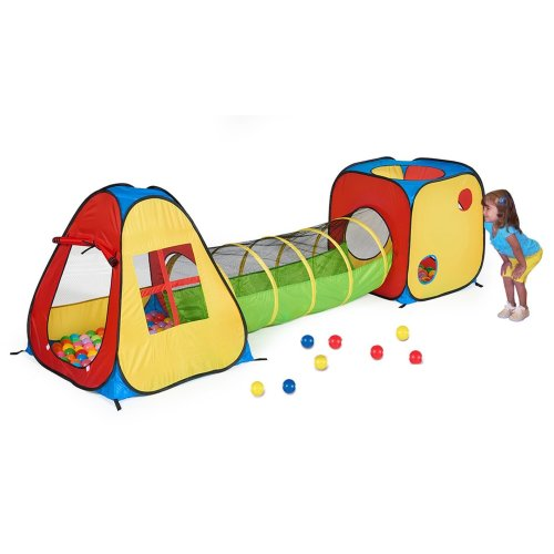 indoor play tent with tunnel