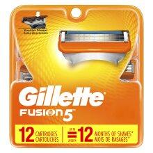 Gillette Fusion5 Men's Razor Blade Refills, 12 Count