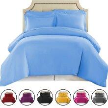 Luxury Plain Dyed Duvet Cover Reversible Bedding