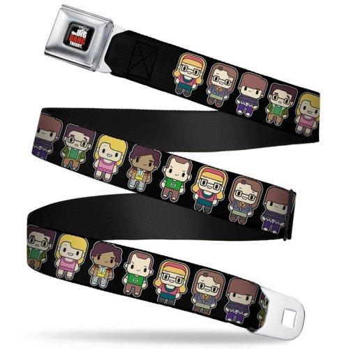 Seatbelt Belt - The Big Bang Theory - V.16 Adj 24-38' Mesh New bbta-wbbt023