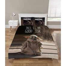 The Mandalorian Baby Yoda Duvet Cover Sets, Star Wars Bedding, Single And Double Reversible Duvet Covers + Pillow Cases, Official Mandalorian Mercha