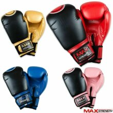 Rex Leather Punch Boxing Gloves Kick Fight Martial Arts Training Muay Thai Mitts