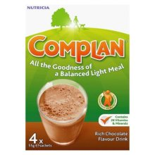 Complan Rich Chocolate Flavour Nutrition Drink 4 x 55g Sachets