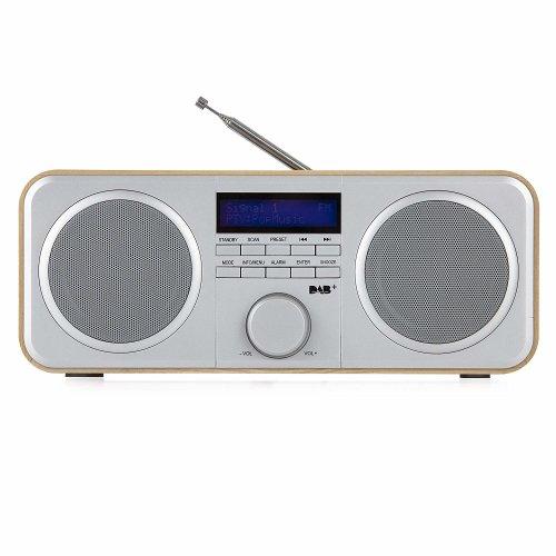 Akai A61037 DAB/DAB+/FM Digital Radio/ LCD display, Wood Effect Oak
