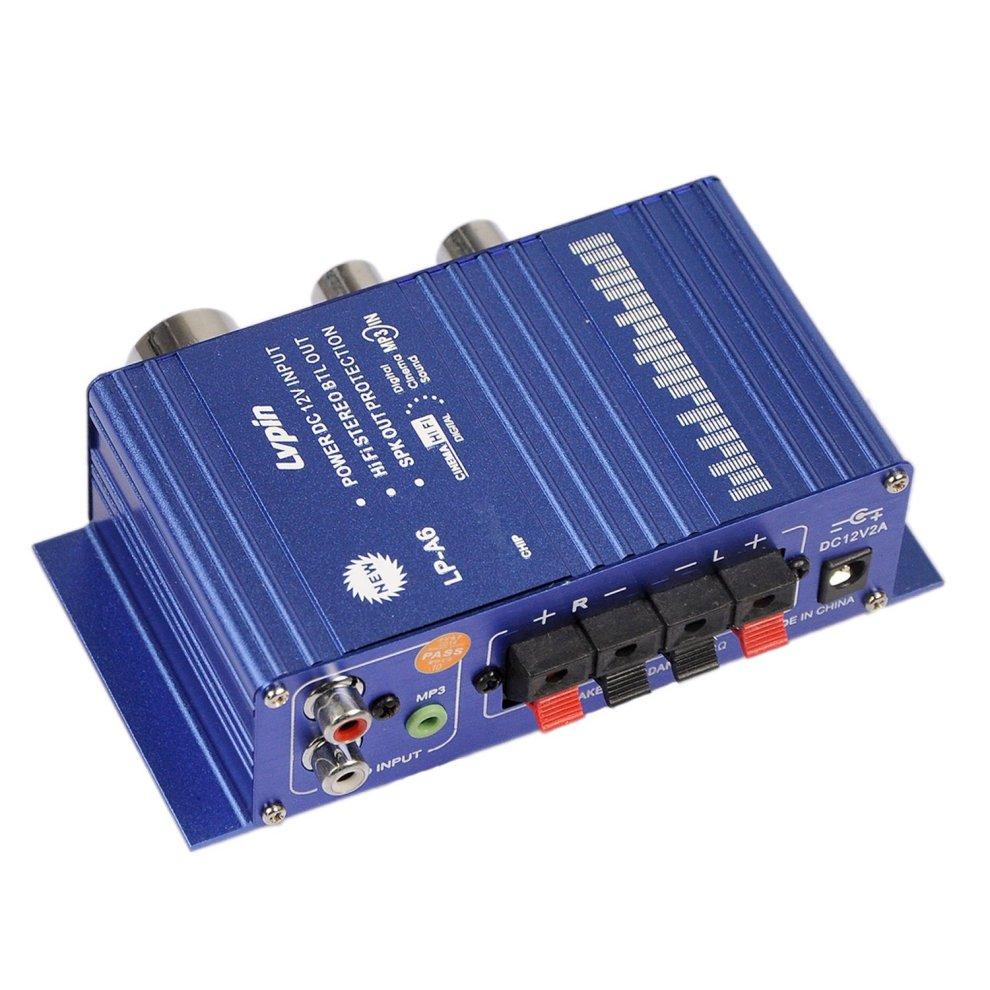EARLYBIRD SAVINGS 12V Audio Amplifier Mini Hi-Fi amplifier Mini Hi-Fi Audio