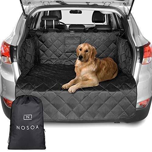 NOSOA Boot Liner - Car Boot Liners for Dogs – 4 Layer Quilted Car Boot Protector with Bumper Flap – Waterproof & Non Slip Dog Boot Cover