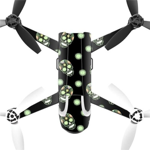 MightySkins PABEBOP2-Glowing Skulls Skin Decal Wrap for Parrot Bebop 2 Quadcopter Drone - Glowing Skulls