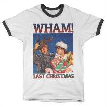 Officially Licensed WHAM - Last Christmas Ringer Mens T-Shirt (White-Black)