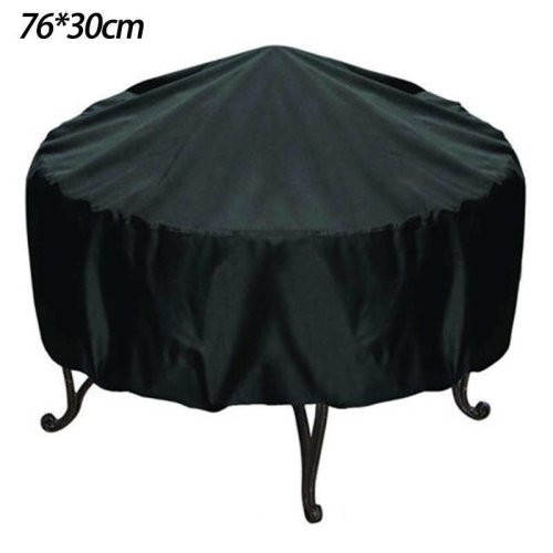 (76 x 30 CM) Large Patio Round BBQ Grill Cover Fire Pit Cover Waterproof Dust Protector 3 Sizes