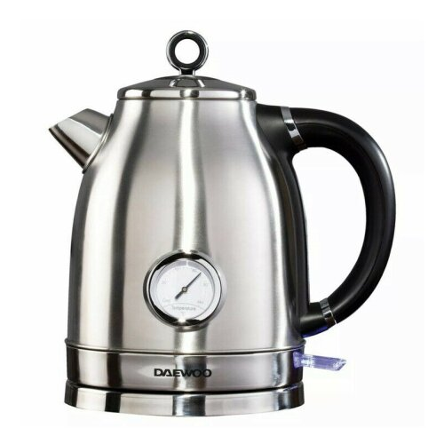 Daewoo Kingsbury Stainless Steel Kettle Temp Guage 3KW 1.7Ltr Auto Switch Off