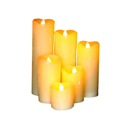 Oypla Set of 6 Real Wax Flameless Battery Operated LED Candles