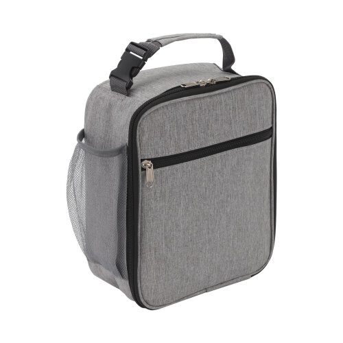 (Gray) Insulated Lunch Bag Box for Thermos Cooler Hot Cold Adult Tote Food