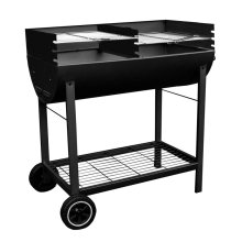 Kingfisher OUTBBQ Half Drum Barrel Steel BBQ Barbecue