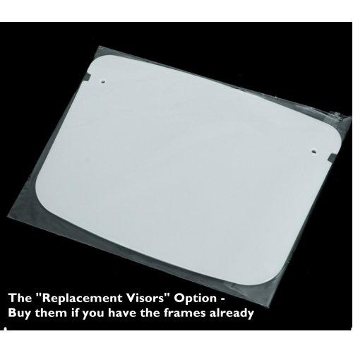 (1 Replacement Visor) Face Shield Full Cover Reusable HD Clear Visor