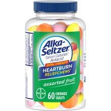 Alka-Seltzer Extra Strength Heartburn ReliefChews, Assorted Fruit, 60 Chewable Tablets